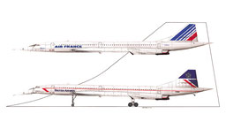 Concorde AIR FRANCE et BRITISH AIRWAYS