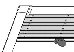 Plissee mit Rahmen für Dachfenster, Dachfensterplissee, mhz plissee, Dachfensterplissee mit Montage