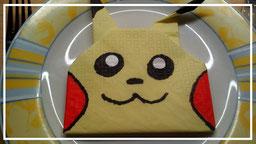 Servietten falten Pikachu Pokemon