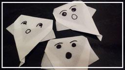Servietten falten Gespenster Geister