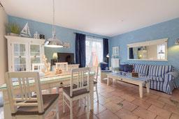 Wohnzimmer im Ferienhaus Friese in Kellenhusen