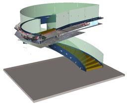 Vaduz, Weisser Würfel - Kombination 3D-Scan mit 3D-Modell