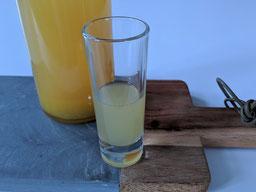 die Essklasse der alten Dorfschule - Ingwer Zitronen Shot