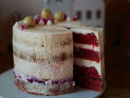 Einfach! Küche! Adventskalender 2018 - Türchen No. 1 - SpekulatiusTorte *Schneeweisschen und Rosenrot* mit Glühweinkirschen