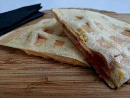 Einfach! Küche! Adventskalender 2108 - Türchen Nr.21 - Quesadillas aus dem Waffeleisen