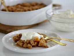 Einfach! Küche! ApfelCrumble mit JoghurtSahne