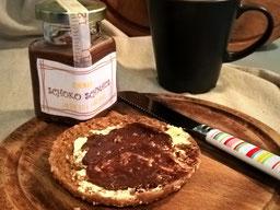 Einfach! Küche! ein Toast mit Schokoladenaufstrich
