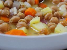 Einfach! Küche! Kichererbsen Suppe im Teller