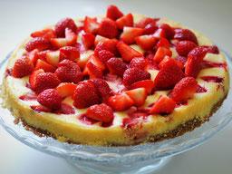 Einfach! Küche! Brownie Cheesecake Erdbeere