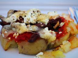 Einfach! Küche! überbackene Kartoffeln - Briefmarken Kartoffeln