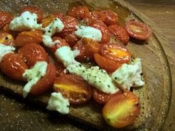 Einfach! Küche! geröstete Tomaten auf Brot