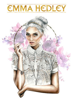 Osseus Designer Helen McClafferty Crown Illustration for Emma Hedley Jewellery