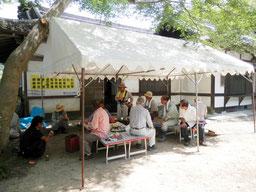 畝傍山口神社 でんそそ祭り 準備