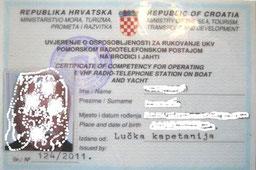 UKW Seesprechfunkberechtigung für Boote und Yachten in Kroatien