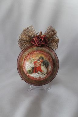 Decoupage Weihnachten Kugel Deko