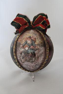 Decoupage Weihnachten Weihnachtskugel Handmade