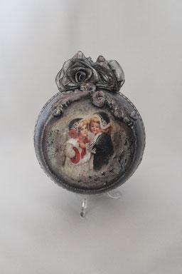Decoupage Kugel Weihnachten Handmade
