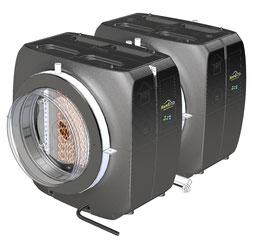Kombination aus HumEvap und CoolEvap zur direkten Lüftbefeuchtung und Kühlung