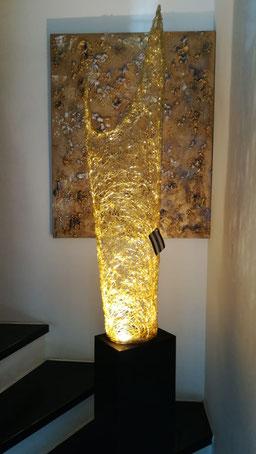 Drahtskulptur Flame