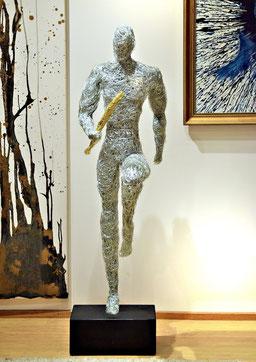 Drahtskulpturen Sport