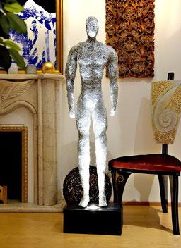 Drahtskulptur Athlet