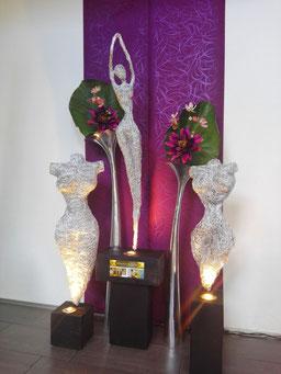 Drahtskulpturen Gruppe