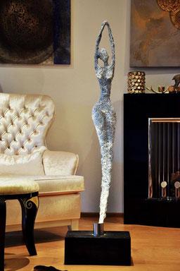 Drahtskulptur Tänzerin Ballett