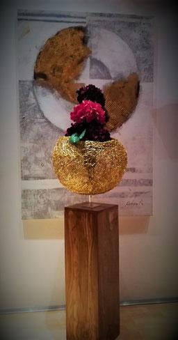 Drahtskulptur Globe