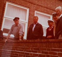 v.l. Berti Westerkamp , Gerd Wäcken , Enno de Vries , Günther Poppinga , Emil Uhlenkamp , ca. Mitte 1960iger