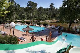 camping avec etang de peche et piscine