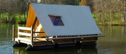 Tente flottante en Dordogne