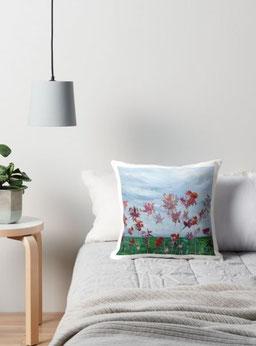 coussin, floral, coquelicot, royan, decoration-interieur-moderne-original-audrey-chal