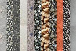 Strahlmittel, Strahltechnik, Strahlmedien, Strahlsand, Strahlkugeln, Strahlperlen, Strahlgut, Sandstrahlen