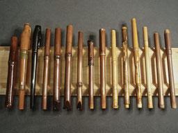 smoked bamboo pen