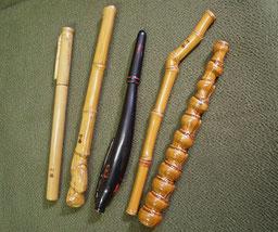 竹のボールペン