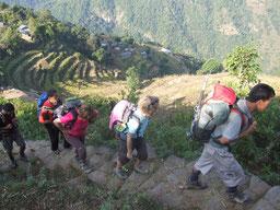 Groupe de trek - Népal