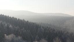 Aussicht in die winterlichen Berge