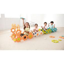 Fleurs glacées à assembler, matériel de motricité et jeux d'enfants. 56 pièces à assembler pour jeux de motricité à acheter pas cher.