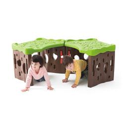 Le tunnel de la forêt à assembler pour les enfants. Tunnel de forêt avec parois à assembler avec écrous plastiques à acheter pas cher et de qualité.