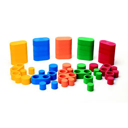 Blocs de construction 3D à assembler pour les enfants. Blocs simples et doubles à assembler avec connecteurs à acheter pas cher et de qualité.