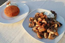 Gegrillter Feta-Käse mit Zaziki