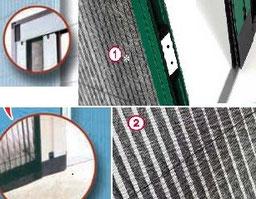 Accesorio para mosquiteras plisadas de aluminio