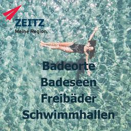 Schwimmhallen, Freibäder, Seen, Badeorte in Zeitz