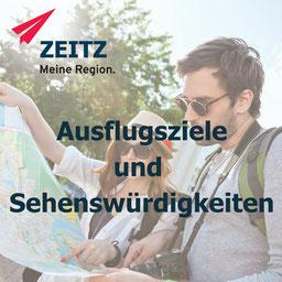 Sehenswürdigkeiten und Ausflugsziele im Burgenlandkreis in der Region Zeitz. Museen, Schlößer Burgen und Klöster