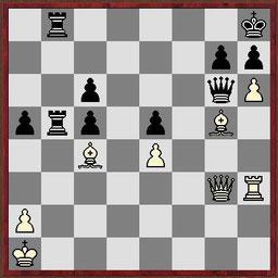 Taktikaufgabe aus der Partie Klek - Schleining, German Masters 2014 in Dresden