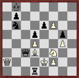 Taktikaufgabe aus der Partie Ohme - Michna, German Masters 2014 in Dresden