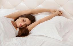 slapen goede nachtrust uitgerust wakker worden
