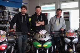 Patrick, Christian und Florim. Motorrad-Center Dreispitz  -  Motorräder, Roller, Vermietung