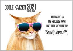 Katzen Kalender Jahr 2021