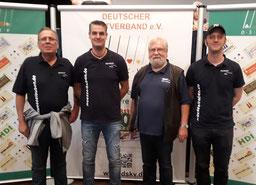 Müsselbuben bei der DEM 2019: Uwe Fug, Carsten Mol, Hartmut Lüschen, Björn Leisner